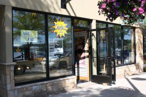 sunglass shop glass windows