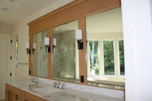 mirror glass vanity