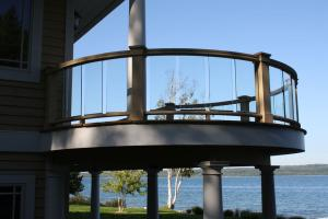 curved glass deck